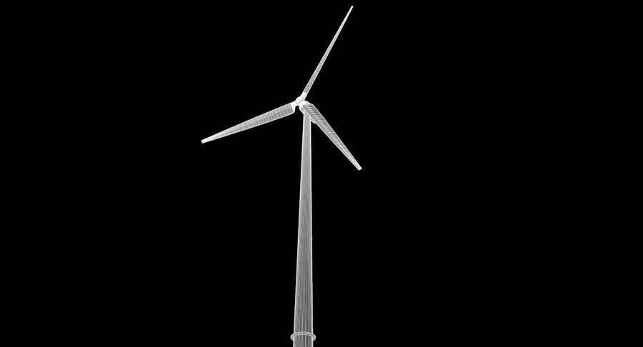 Wind Turbine 2 royalty-free 3d model - Preview no. 10