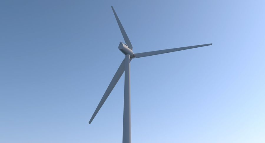 Wind Turbine 2 royalty-free 3d model - Preview no. 6