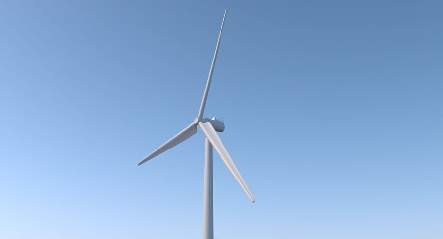 Wind Turbine 2 royalty-free 3d model - Preview no. 4