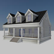 Çizgi Film Evi 2 - Konut Modern Kent Çiftlik Evi 3d model