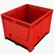 プラスチック箱03 3d model