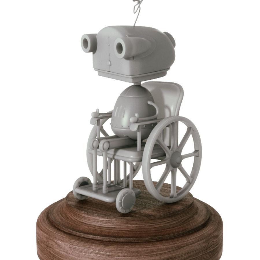 Grandmother Robot Machinarium royalty-free 3d model - Preview no. 2