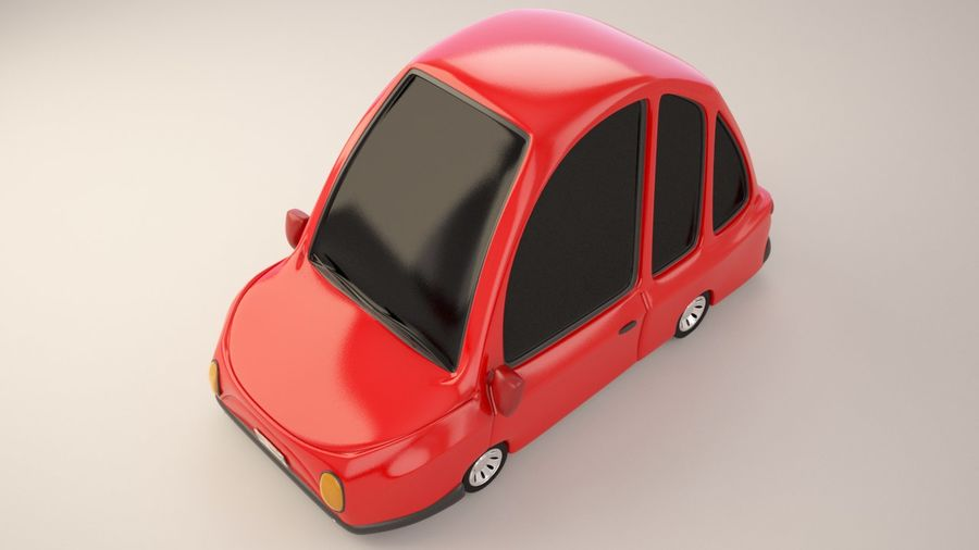 漫画車モデル royalty-free 3d model - Preview no. 3