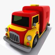Cartoon Transport Truck 3d model