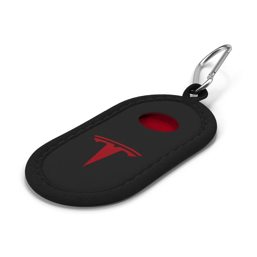 Tesla S Key Fob Black Cover royalty-free 3d model - Preview no. 5