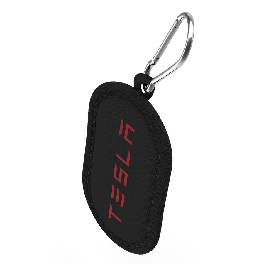 Tesla S Key Fob Black Cover royalty-free 3d model - Preview no. 11