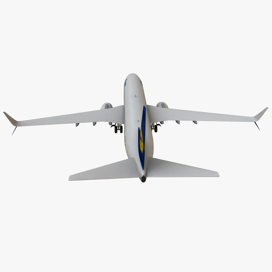 Lufthansa Boeing 737 800 royalty-free 3d model - Preview no. 10
