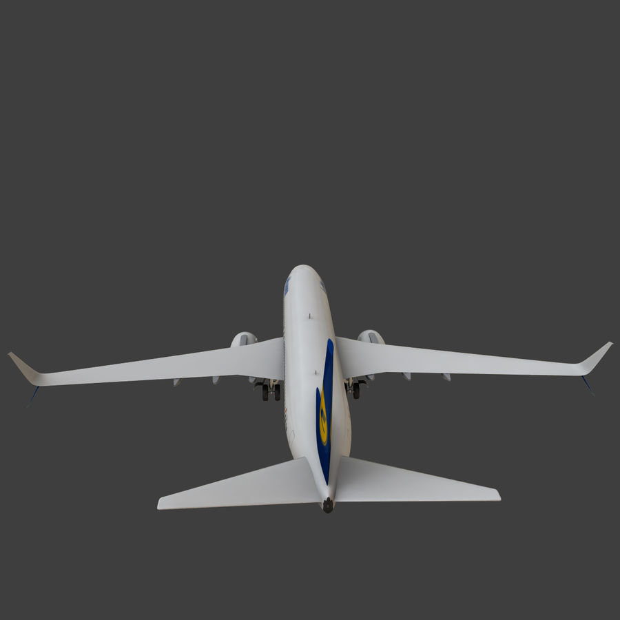 Lufthansa Boeing 737 800 royalty-free 3d model - Preview no. 23
