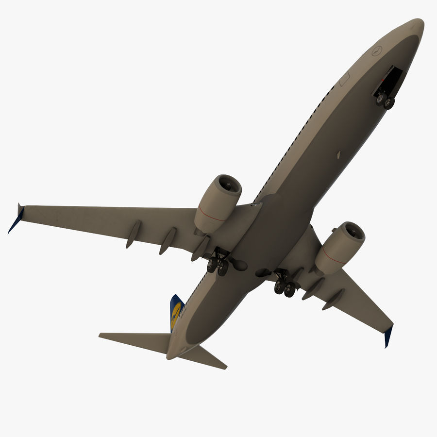 Lufthansa Boeing 737 800 royalty-free 3d model - Preview no. 7