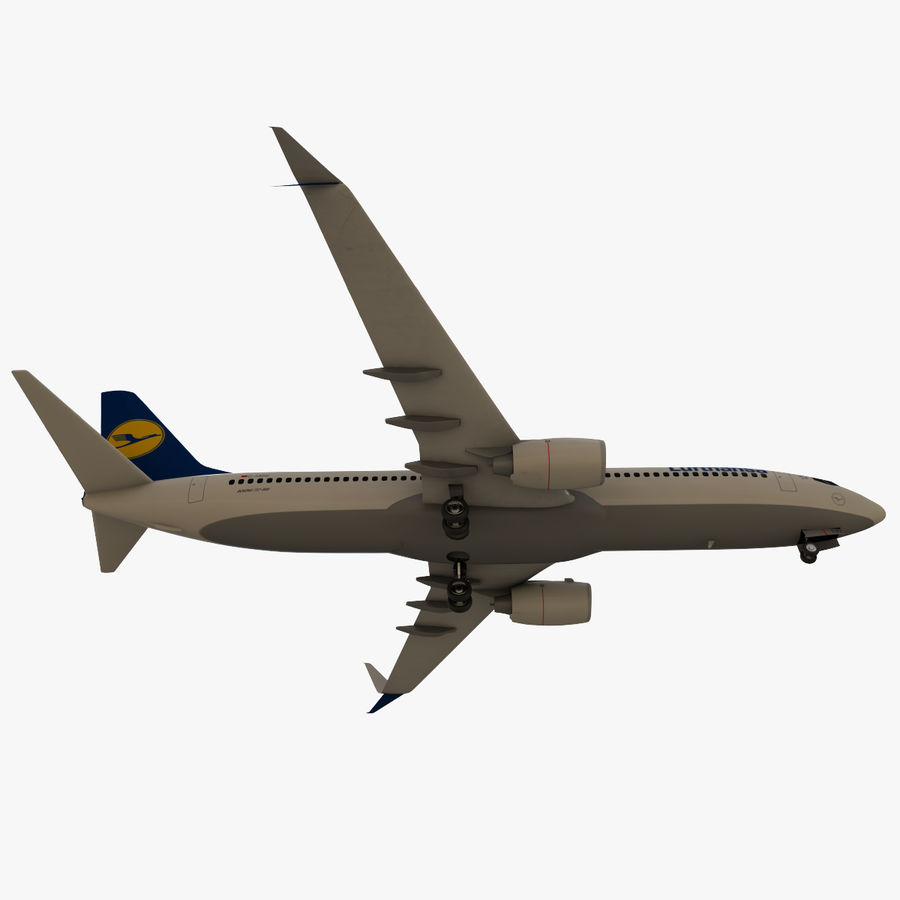 Lufthansa Boeing 737 800 royalty-free 3d model - Preview no. 13