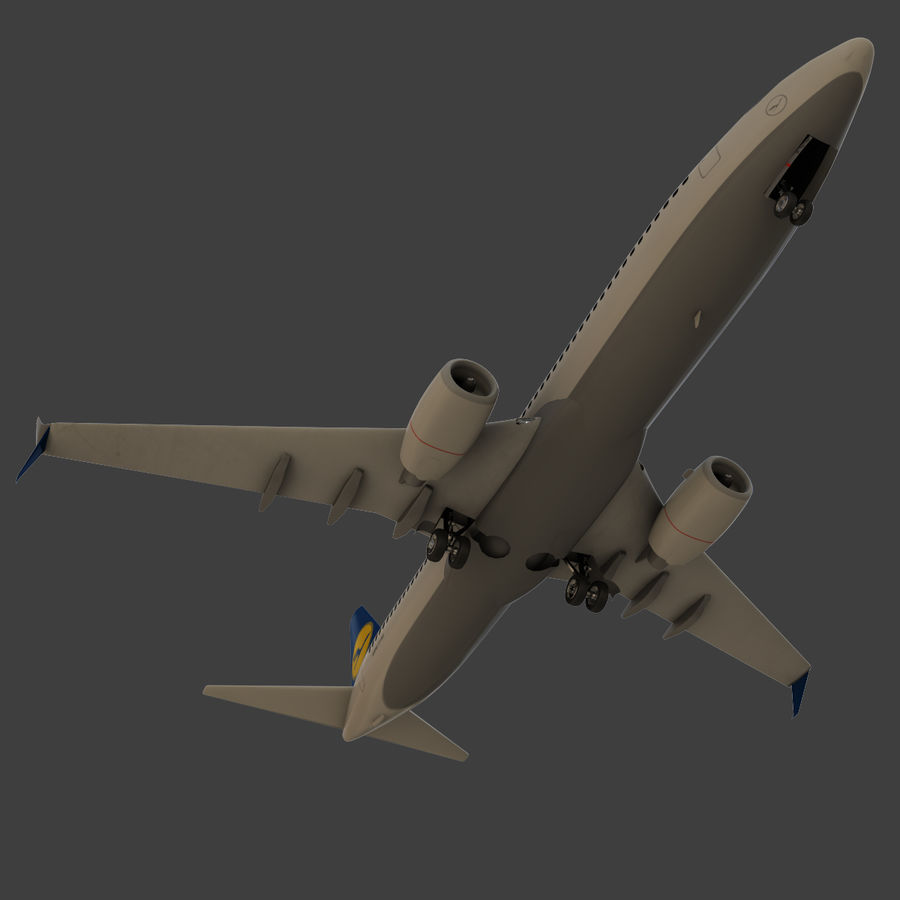 Lufthansa Boeing 737 800 royalty-free 3d model - Preview no. 20