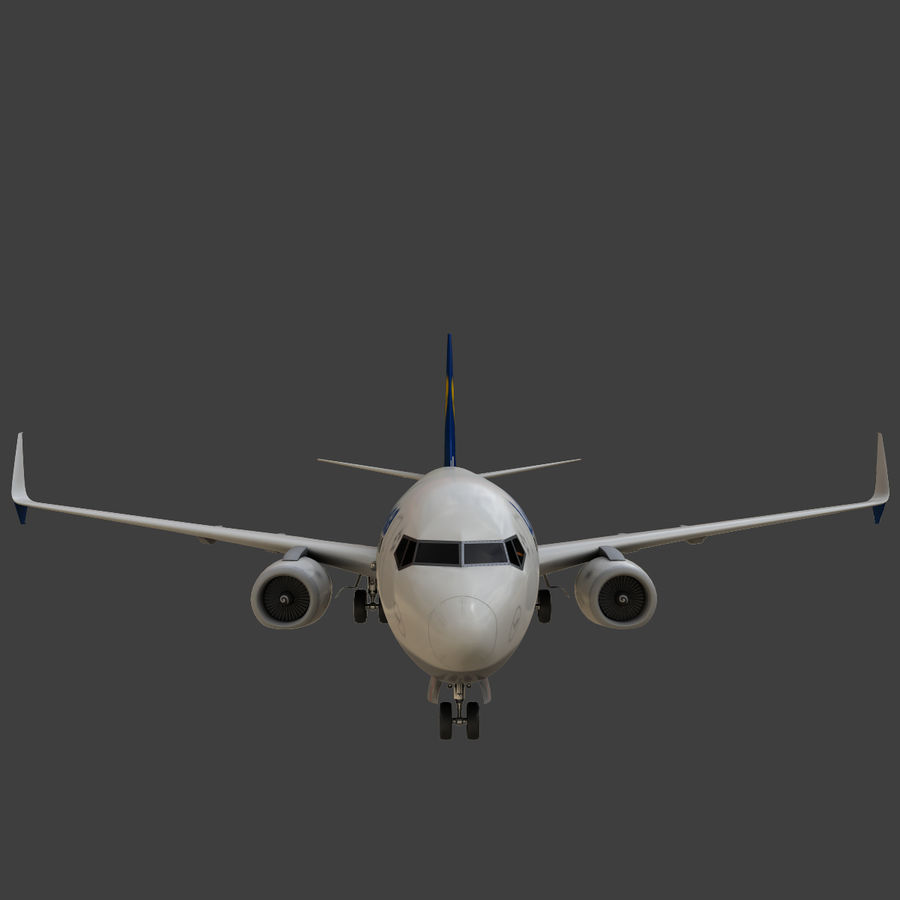 Lufthansa Boeing 737 800 royalty-free 3d model - Preview no. 21