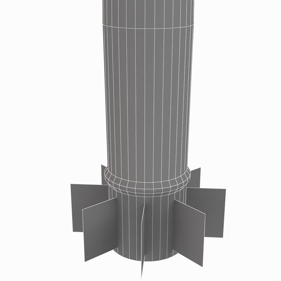 Excalibur Shell 155mm royalty-free 3d model - Preview no. 14