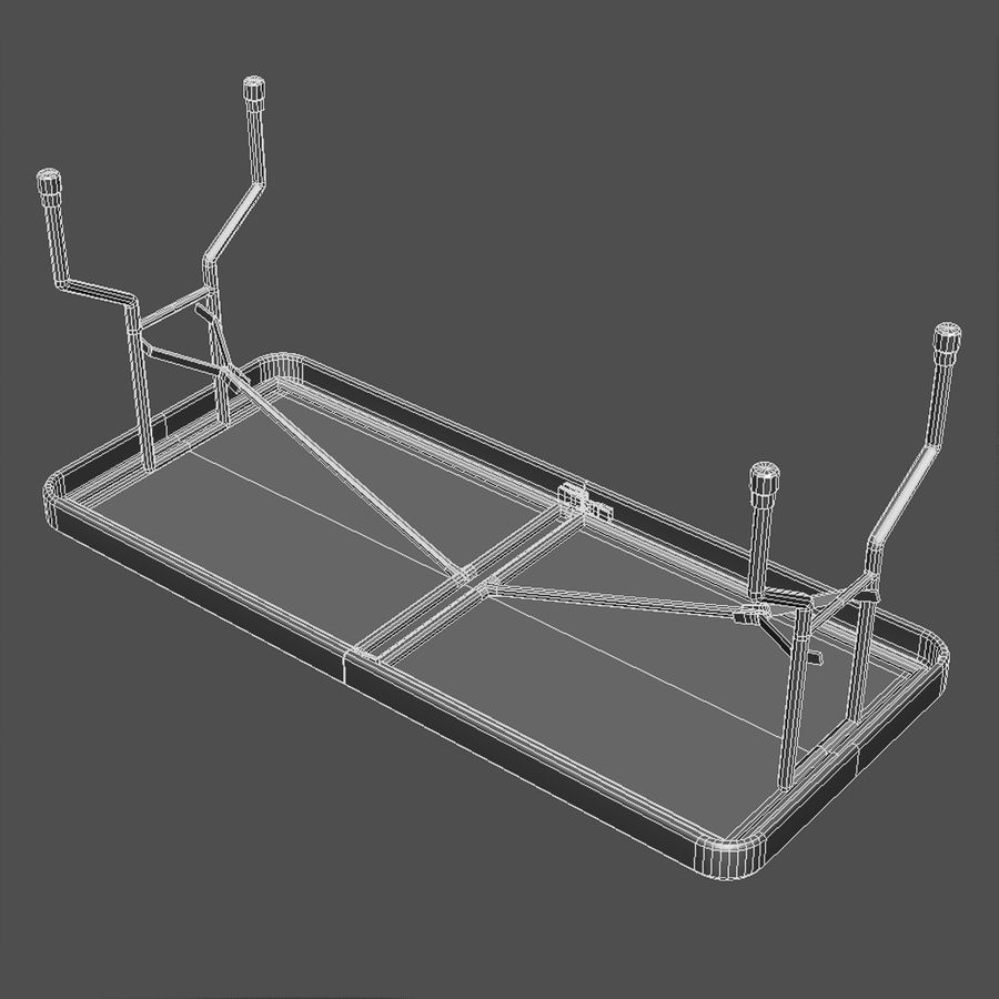 Folding Table royalty-free 3d model - Preview no. 6