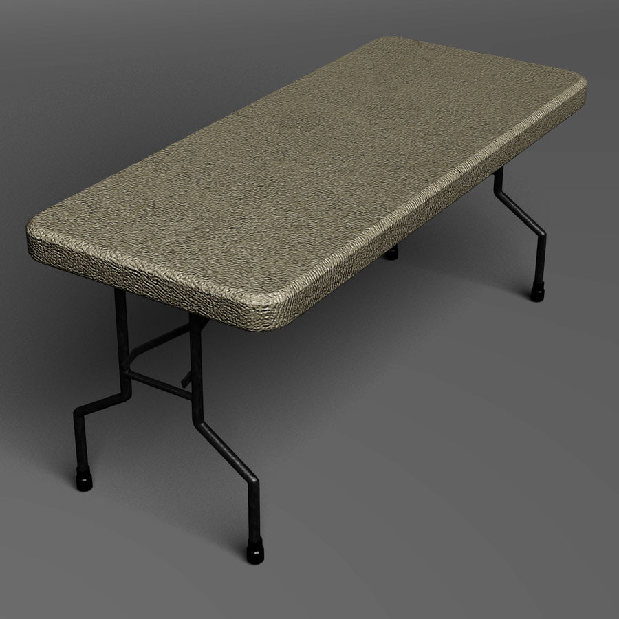 Folding Table royalty-free 3d model - Preview no. 1
