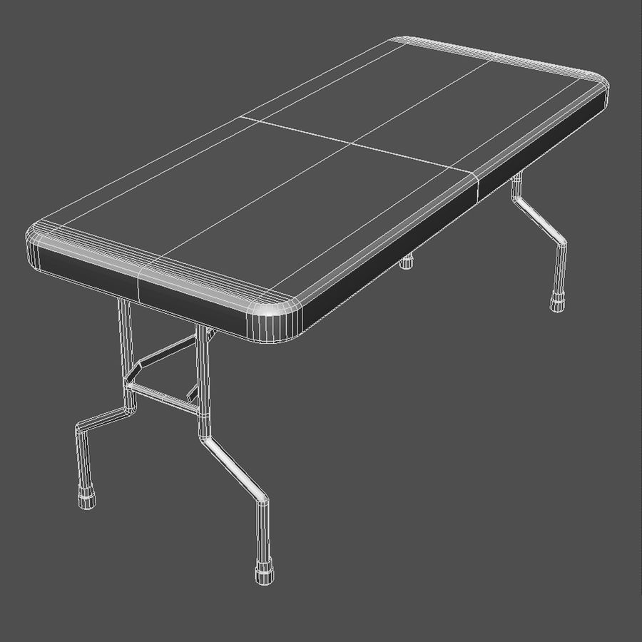 Folding Table royalty-free 3d model - Preview no. 2