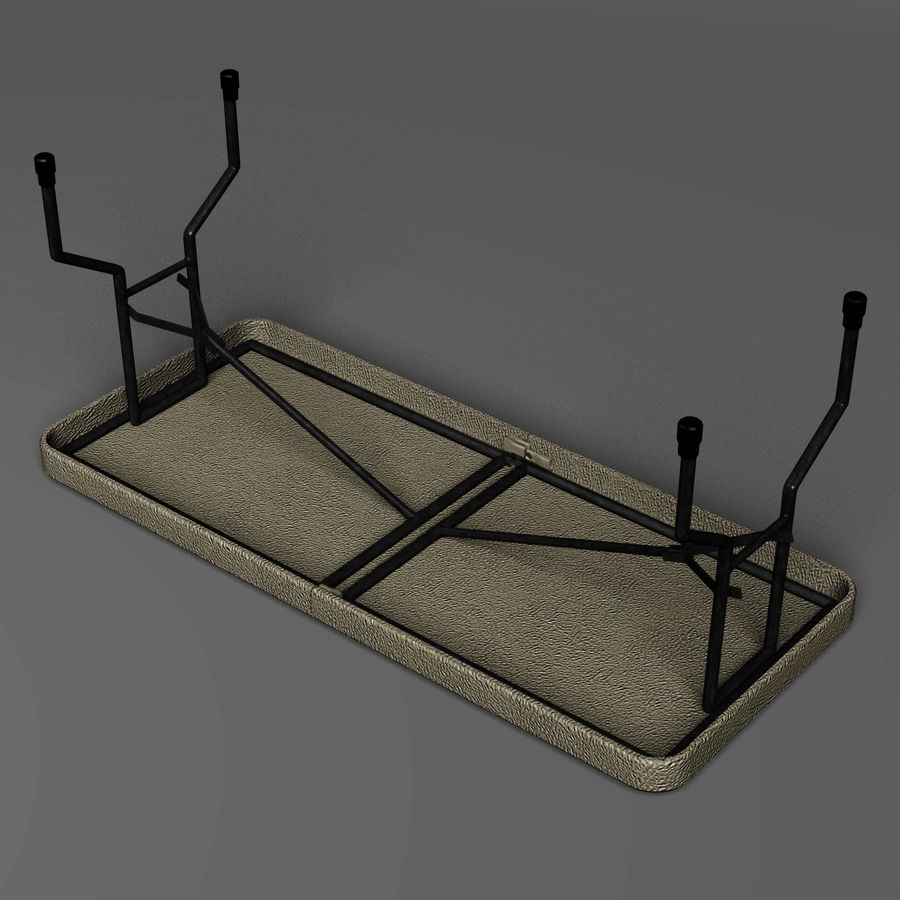 Folding Table royalty-free 3d model - Preview no. 5