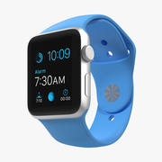 Apple Watch Sport Blue 42mm 3d model