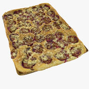 Plum Baked Plate of Pie Sheet metal Folk tradizionale 3d model