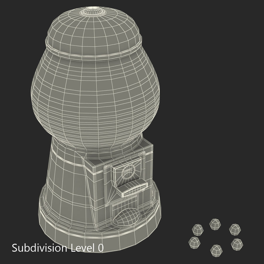 Bubble Gum Dispenser royalty-free 3d model - Preview no. 12