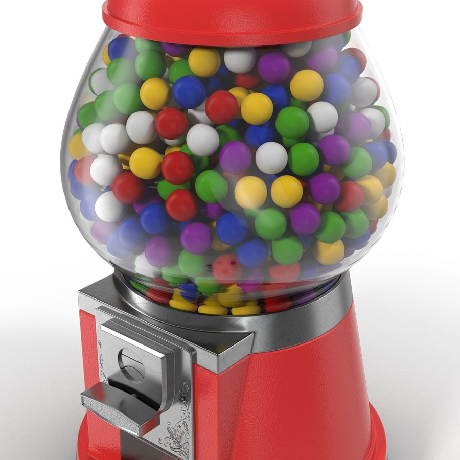 Bubble Gum Dispenser royalty-free 3d model - Preview no. 11
