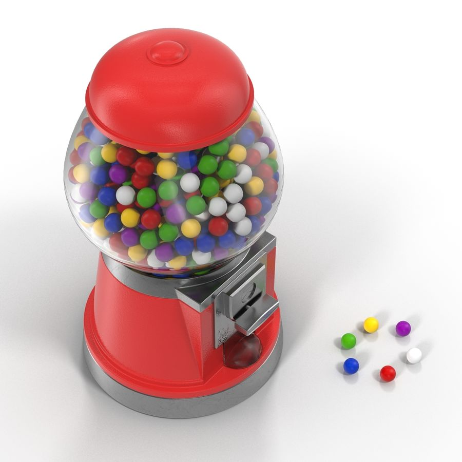 Bubble Gum Dispenser royalty-free 3d model - Preview no. 6