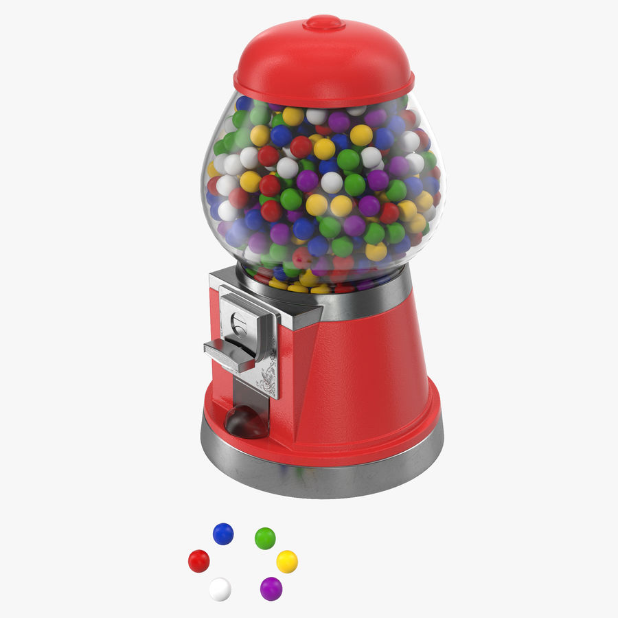 Bubble Gum Dispenser royalty-free 3d model - Preview no. 1