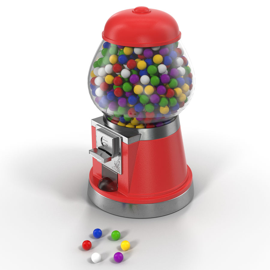 Bubble Gum Dispenser royalty-free 3d model - Preview no. 2