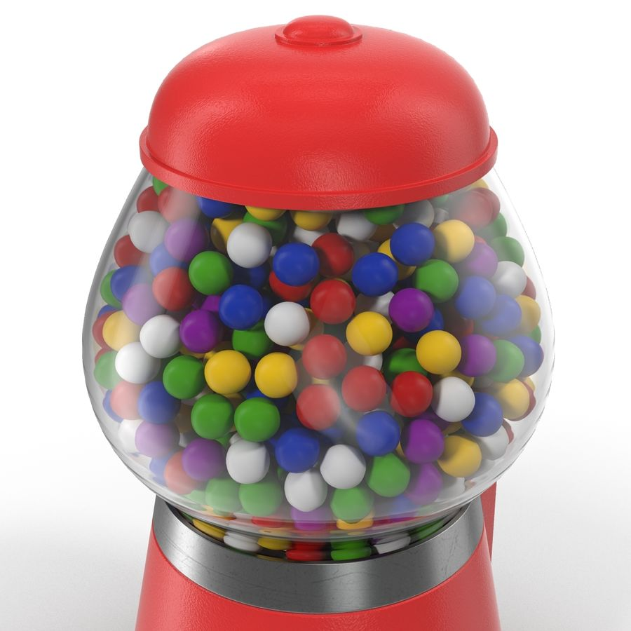 Bubble Gum Dispenser royalty-free 3d model - Preview no. 8