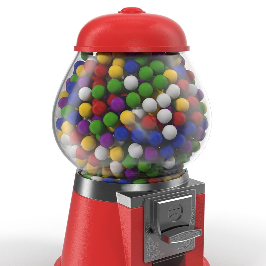 Bubble Gum Dispenser royalty-free 3d model - Preview no. 9