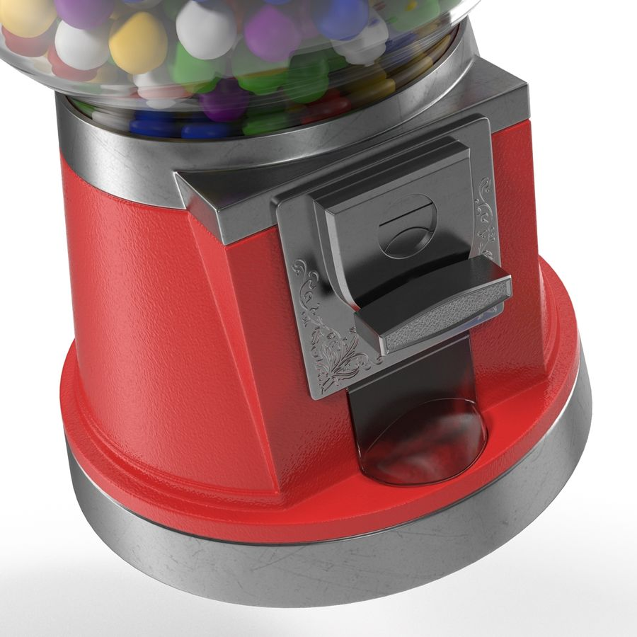 Bubble Gum Dispenser royalty-free 3d model - Preview no. 10