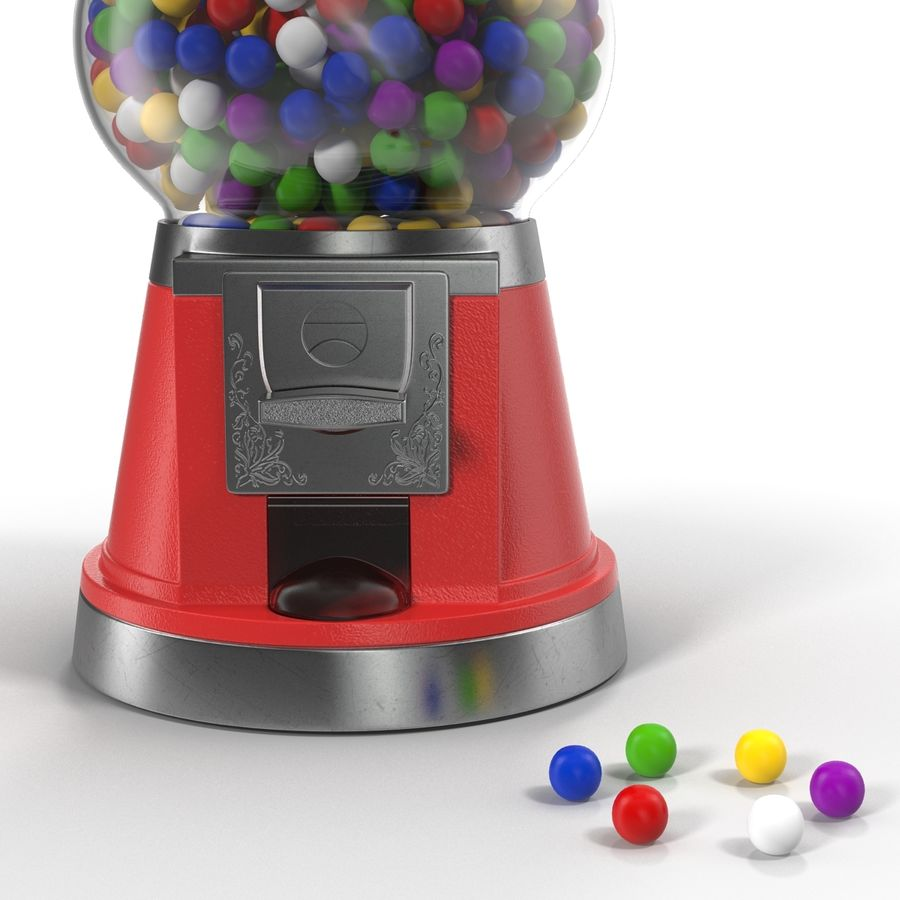 Bubble Gum Dispenser royalty-free 3d model - Preview no. 7