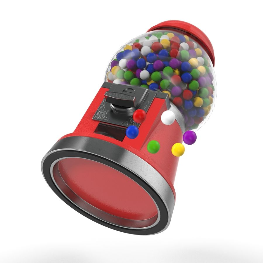 Bubble Gum Dispenser royalty-free 3d model - Preview no. 5