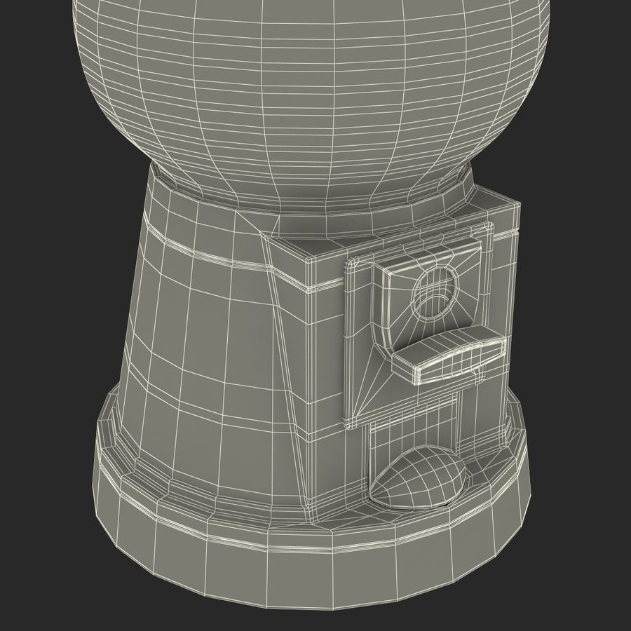 Bubble Gum Dispenser royalty-free 3d model - Preview no. 23