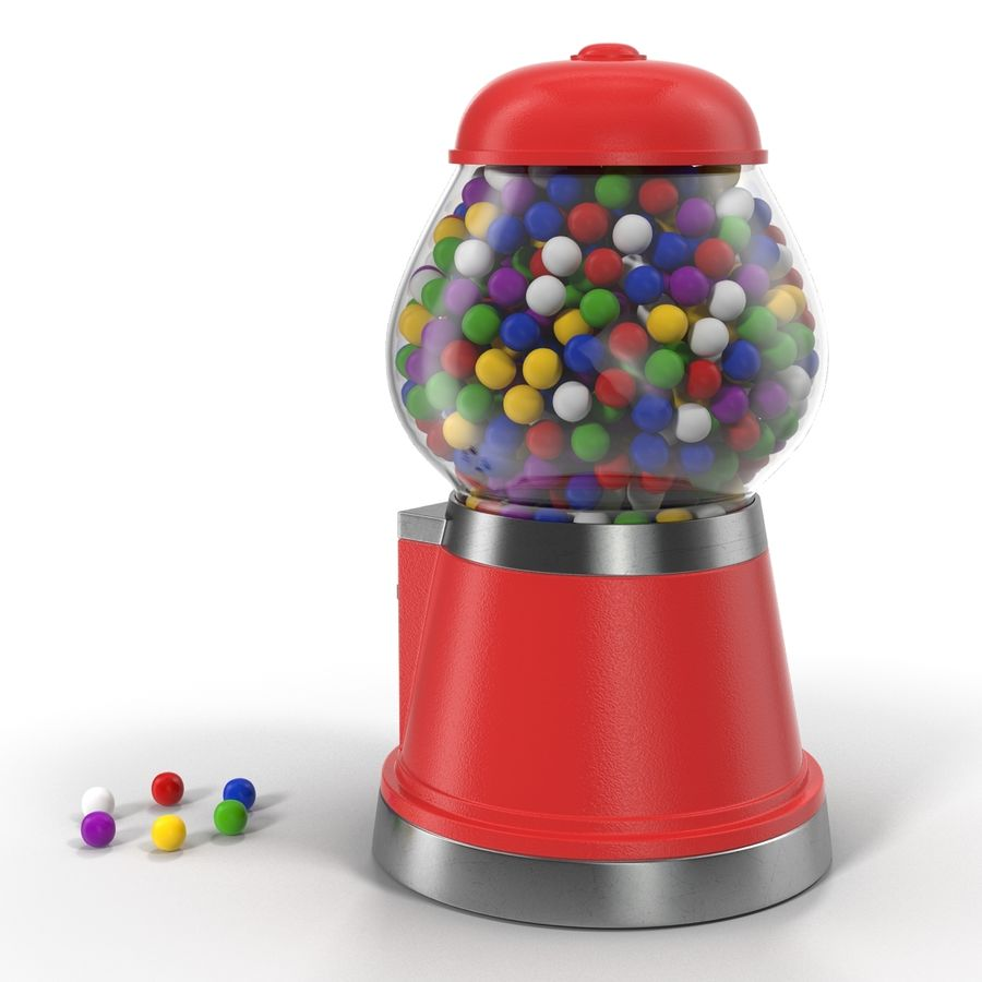 Bubble Gum Dispenser royalty-free 3d model - Preview no. 4