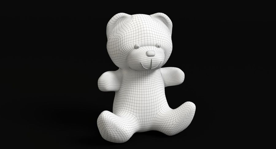 Teddy Bear 2 royalty-free 3d model - Preview no. 11