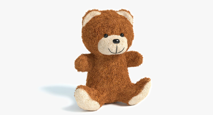 Teddy Bear 2 royalty-free 3d model - Preview no. 2
