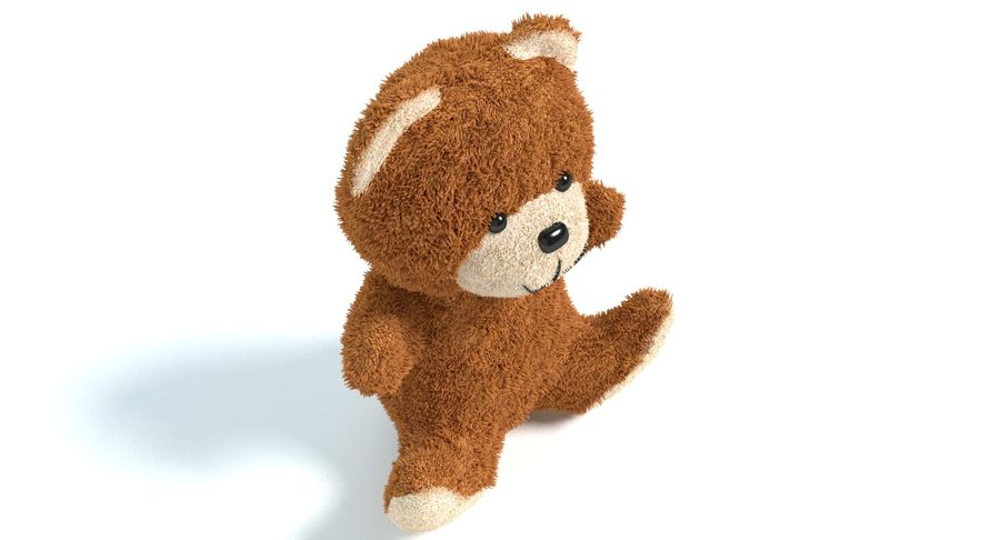 Teddy Bear 2 royalty-free 3d model - Preview no. 5