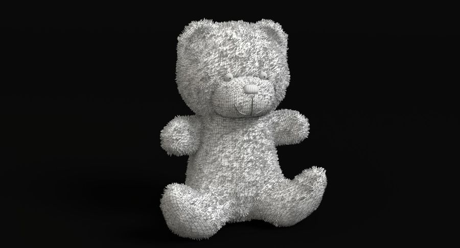 Teddy Bear 2 royalty-free 3d model - Preview no. 10