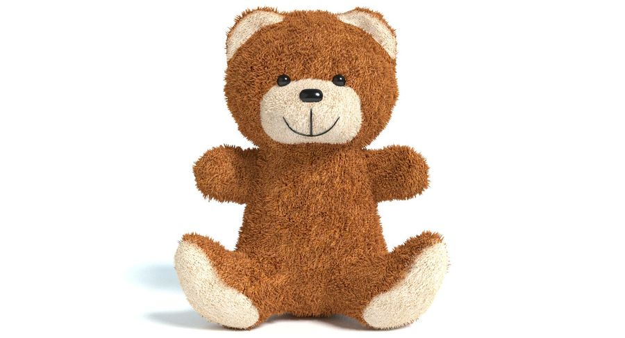 Teddy Bear 2 royalty-free 3d model - Preview no. 4