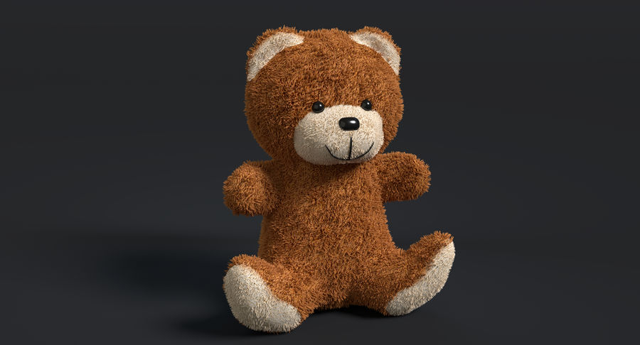 Teddy Bear 2 royalty-free 3d model - Preview no. 3