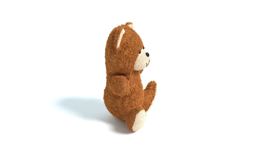 Teddy Bear 2 royalty-free 3d model - Preview no. 7
