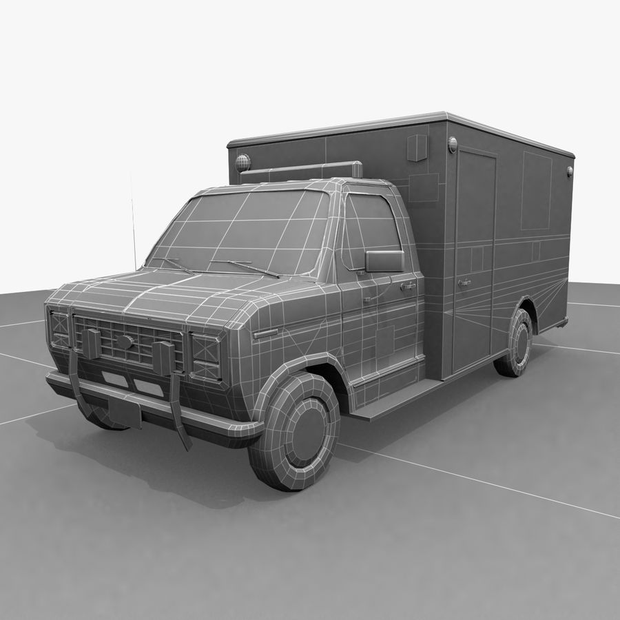 Ambulance royalty-free 3d model - Preview no. 6
