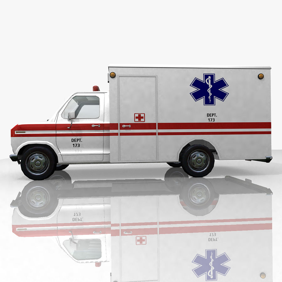 Ambulance royalty-free 3d model - Preview no. 5