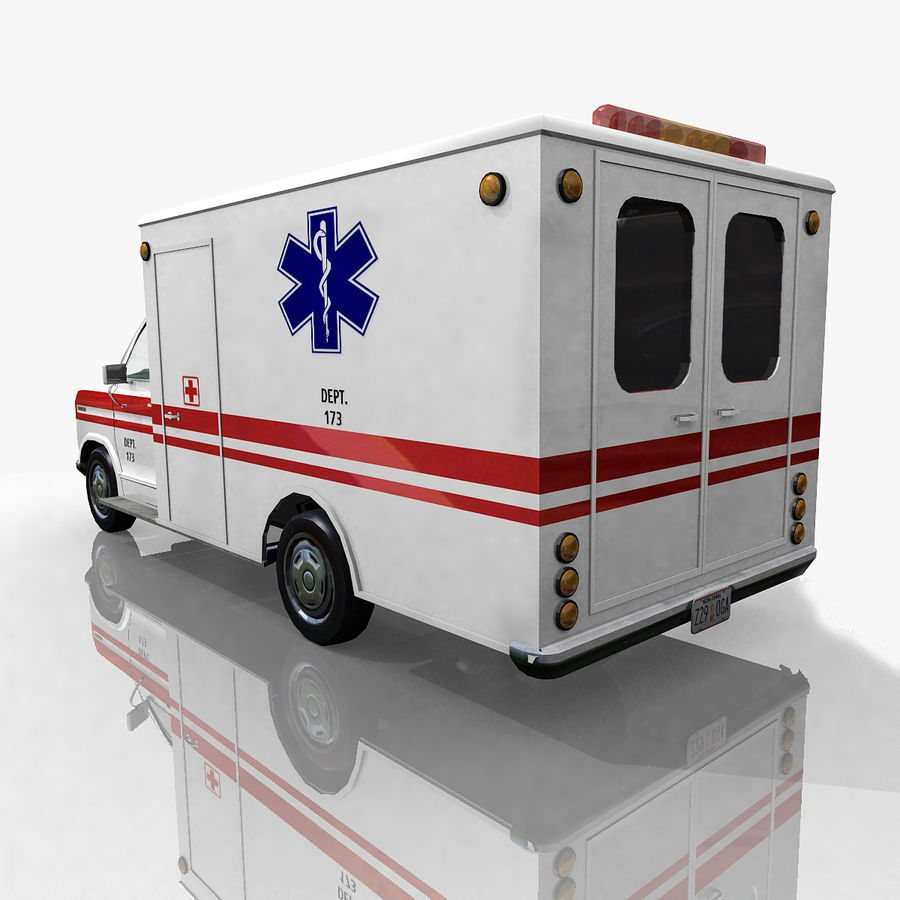 Ambulance royalty-free 3d model - Preview no. 4