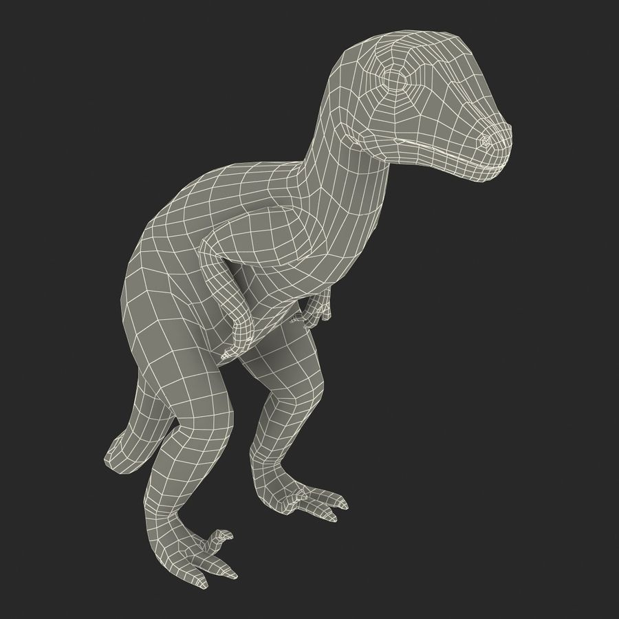Dinosaur Toy Velociraptor Modello 3D royalty-free 3d model - Preview no. 19