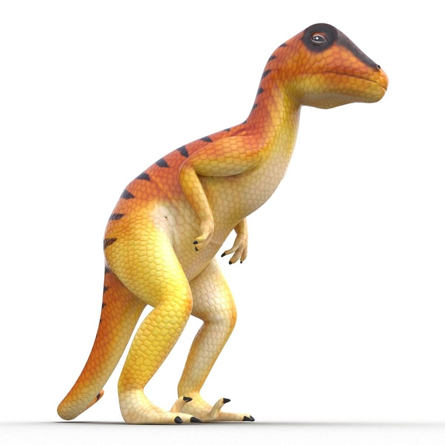 Dinosaur Toy Velociraptor Modello 3D royalty-free 3d model - Preview no. 3