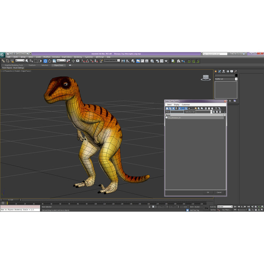Dinosaur Toy Velociraptor Modello 3D royalty-free 3d model - Preview no. 17