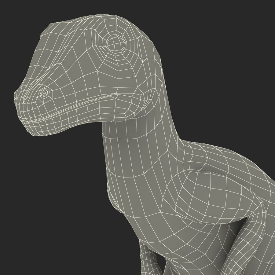 Dinosaur Toy Velociraptor Modello 3D royalty-free 3d model - Preview no. 22