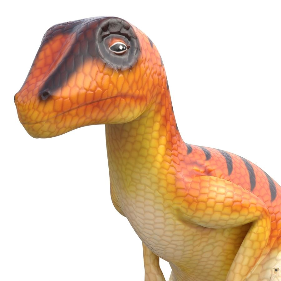 Dinosaur Toy Velociraptor Modello 3D royalty-free 3d model - Preview no. 12